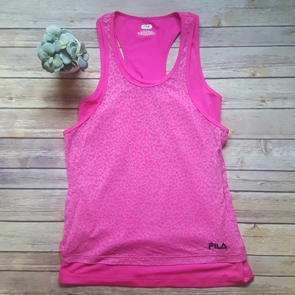 super cheap exclusive range amazing selection Fila Sport Workout Double Layered Tank Top Size M
